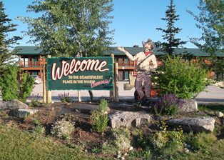 Sign for Teton Mountain View Lodge and Campgrounds, Tetonia Idaho