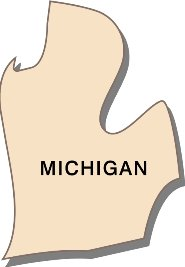 interesting-facts-about-michigan; state outline