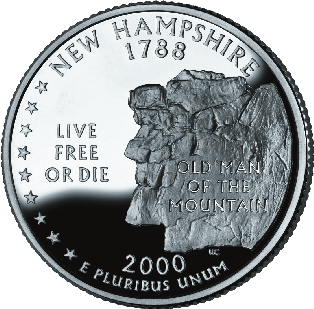 interesting-facts about new hampshire; state coin