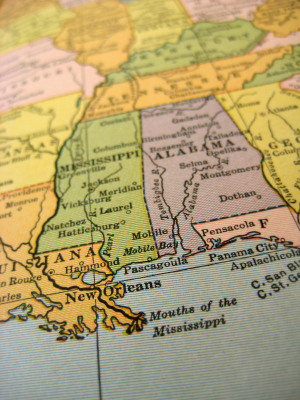 mississippi-fun-facts; Mississippi map
