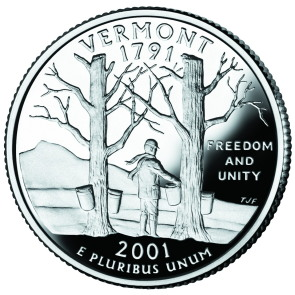 Vermont Vacation Guide; Vermont coin